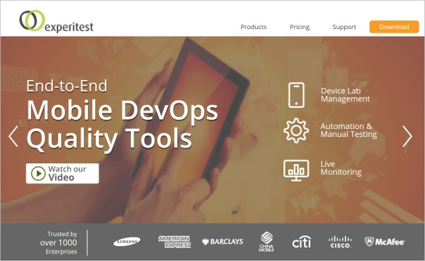 experitest mobile testing monitoring tools