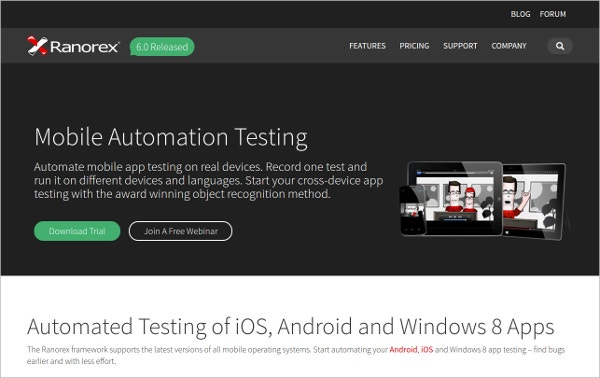 Ranorex – Mobile App Automation Testing
