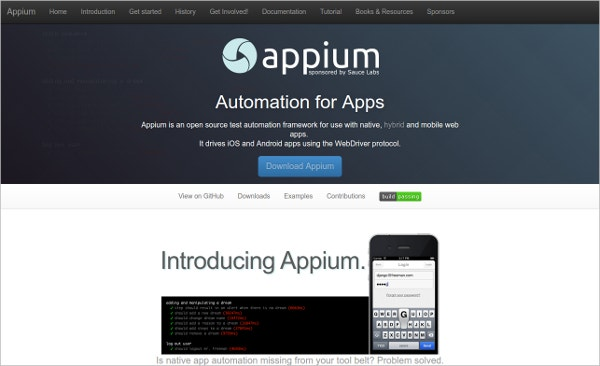 appium automation testing tool for apps