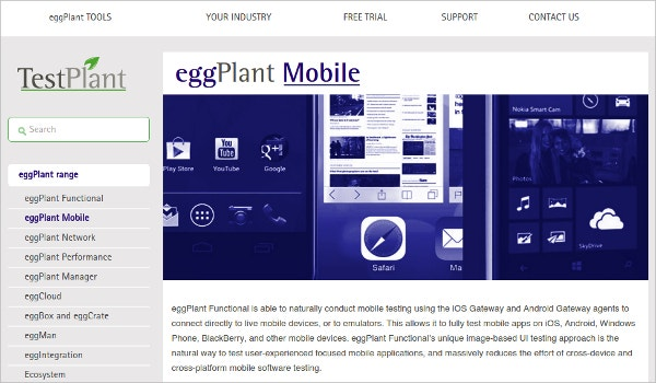 eggPlant Mobile App Testing for iOS, Android