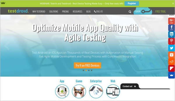 testdroid mobile app testing on android and ios device