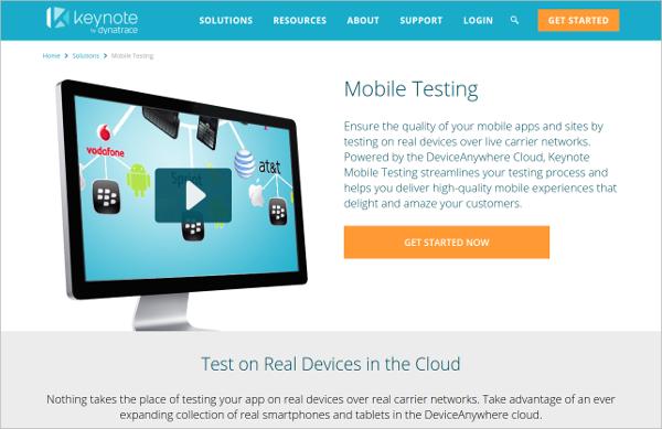 Keynote - Mobile App Testing Tool