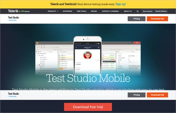 Test Studio Mobile App - Telerik