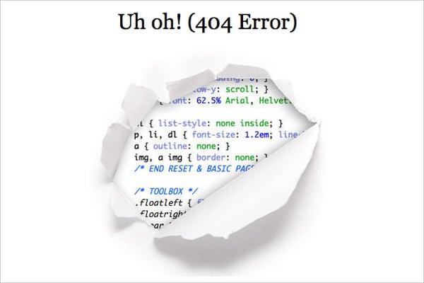 CssTricks 404 Page