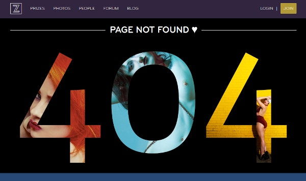 Zivity 404 Page not Found