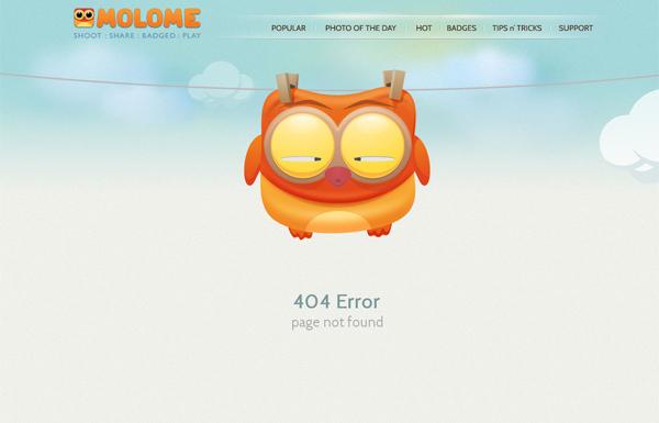 molome funny 404 page