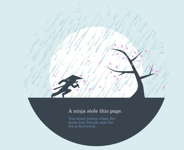 huwshimi ninja 404 page