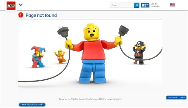 Lego 404 Funny Page
