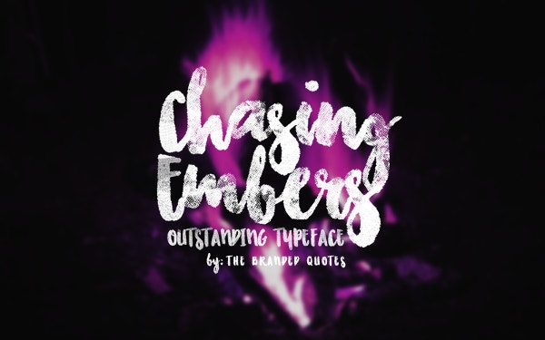 Chasing Embers OTF Font