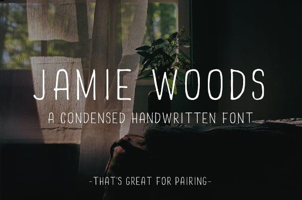 handwritten font jamie woods