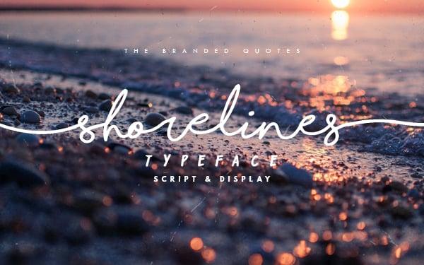 Shorelines Script Cursive & Hand Written Font