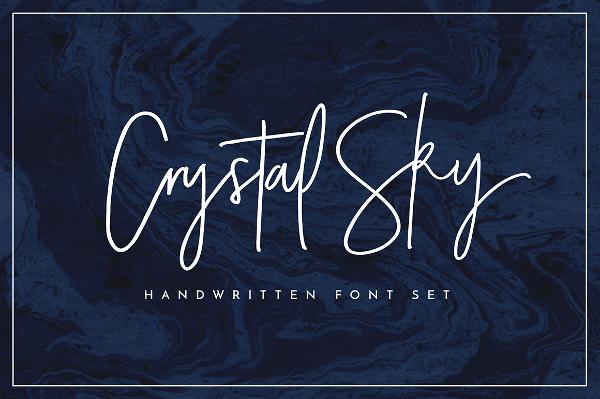 Crystal Sky Font Set