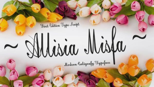 allisia misfa cursive ttf