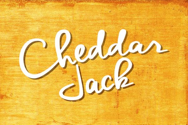 cheddar jack cursive hand made font