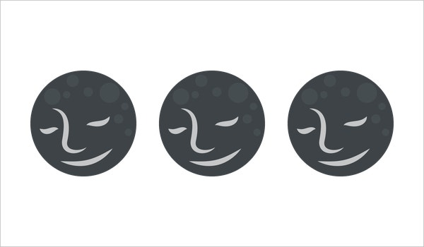 New Moon With Face on Emoji One Download
