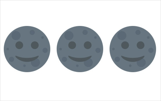 Moon With Face for Twitter Twemoji