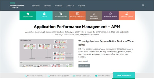 HP : Application Performance Management – APM