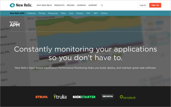 newrelic application performance monitoring