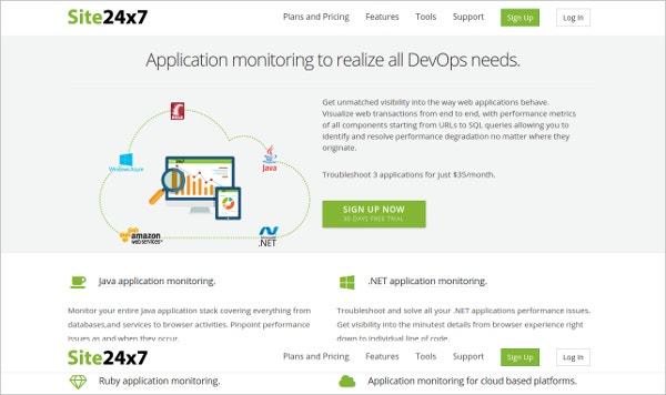 Site24x7 - Performance Application Monitoring