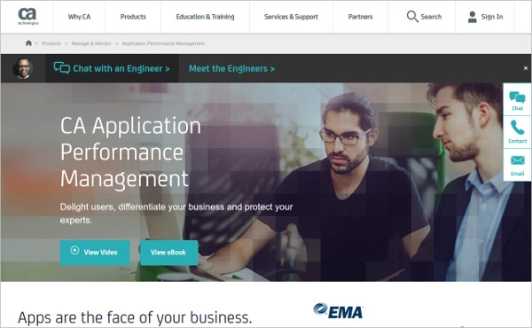 ca application performance management tool