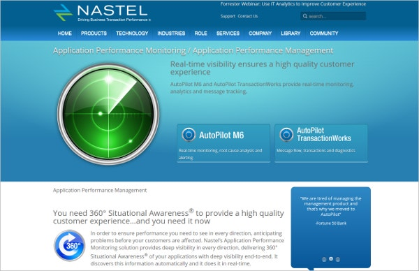 nastel tool application performance monitoring
