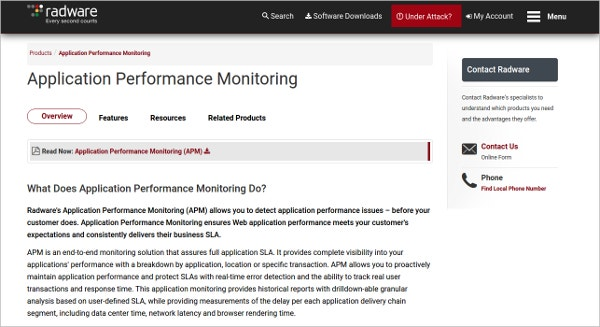radware application performance monitoring