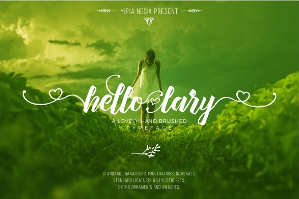 Hello Lary Calligraphy Font