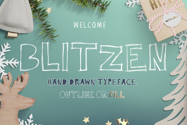 blitzen display block font