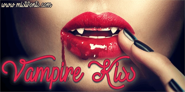 vampire kiss demo cool fancy font