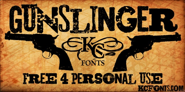 Gunslinger Fancy Western Font