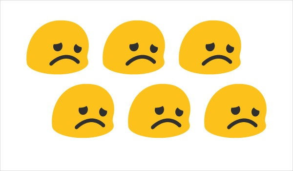 sad emoji face on google android