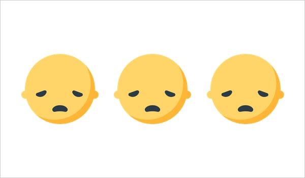 Mozilla Firefox OS Emoji Sad Face