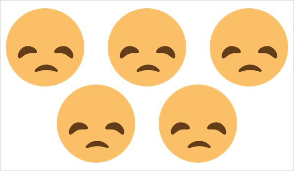 sad face disappointed face on emoji one