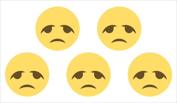 free disappointed sad face on emoji one