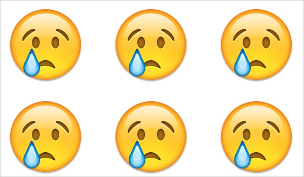 crying sad face emoji on apple ios