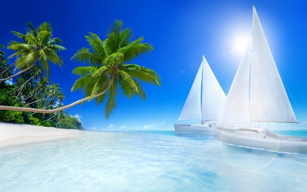Tropical Beache HD Background for Desktop