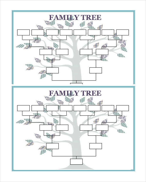 25 Family Tree Templates Free Sample Example Format – Blank Family Tree Template