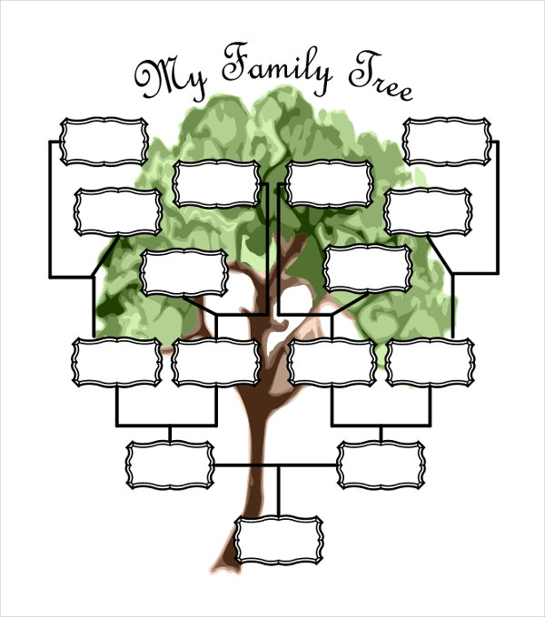 51 family tree templates free sample example format for Picture of a family tree template