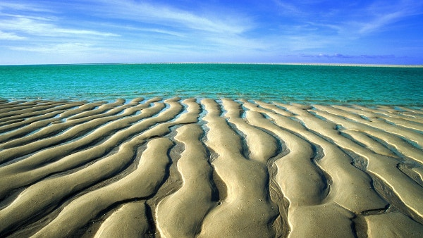 Sand Waves Awesome Beach Background for Wallapaper
