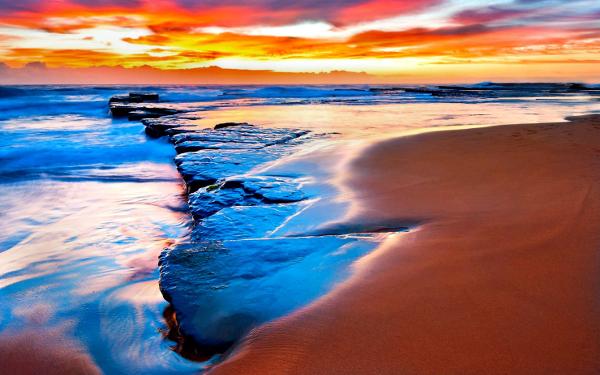 sun set beach beautiful hd background