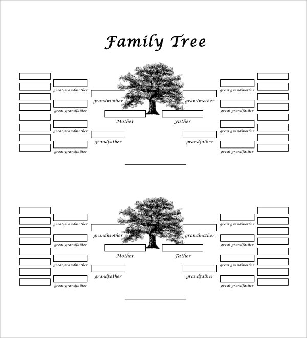 5 generation family tree template1
