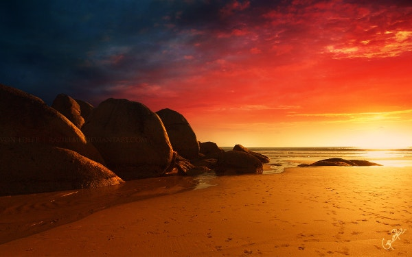 fabulous fire beach background download