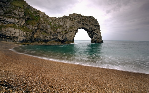 Elephant Shaped Rock Beach Beautiful Background