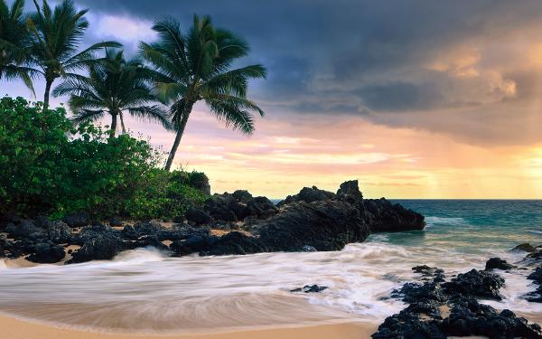 hawaii secret beache best wallpaper background