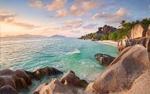 la digue beach seychelles background for phone