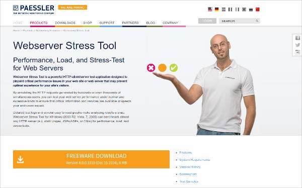 Paessler HTTP Webserver Stress Tool