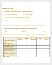 Sample Employee Survey Template Free Download