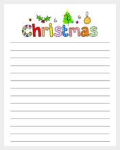 Christmas Lined Paper Templates