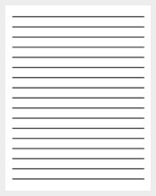 Free Lined Paper Template  Download Lined Paper