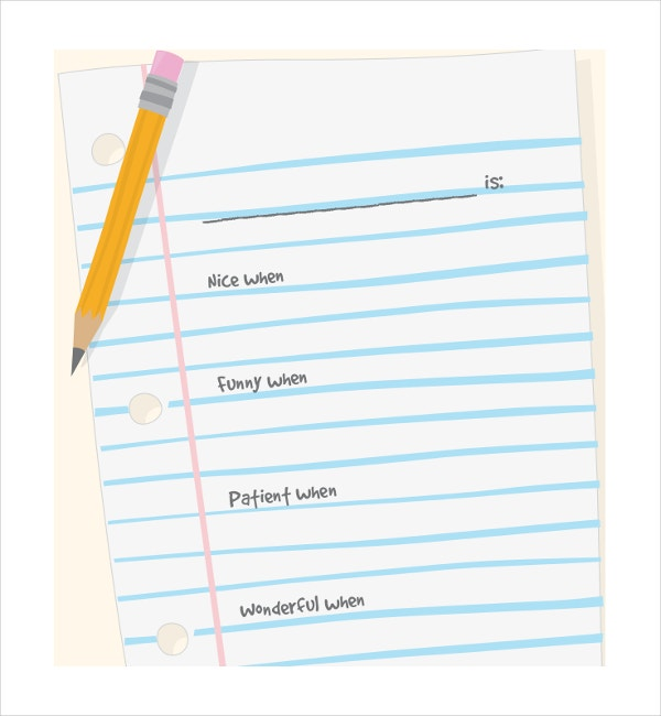 11 Line Paper Templates Free Sample Example Format – Microsoft Word Notebook Paper Template